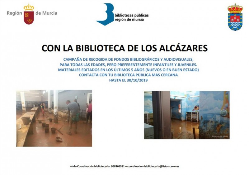<span style='color:#780948'>ARCHIVED</span> - Book appeal for Los Alcázares library following Gota Fría